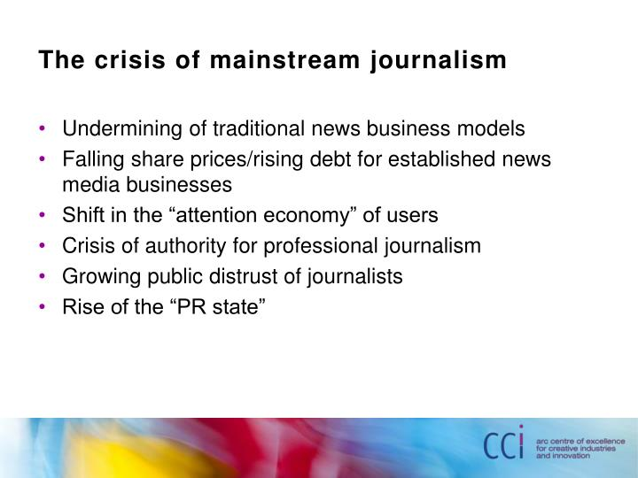 The crisis of mainstream journalism