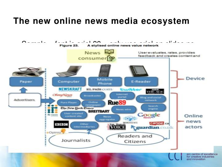 The new online news media ecosystem