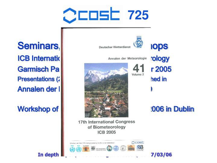 Seminars, conferences, workshops