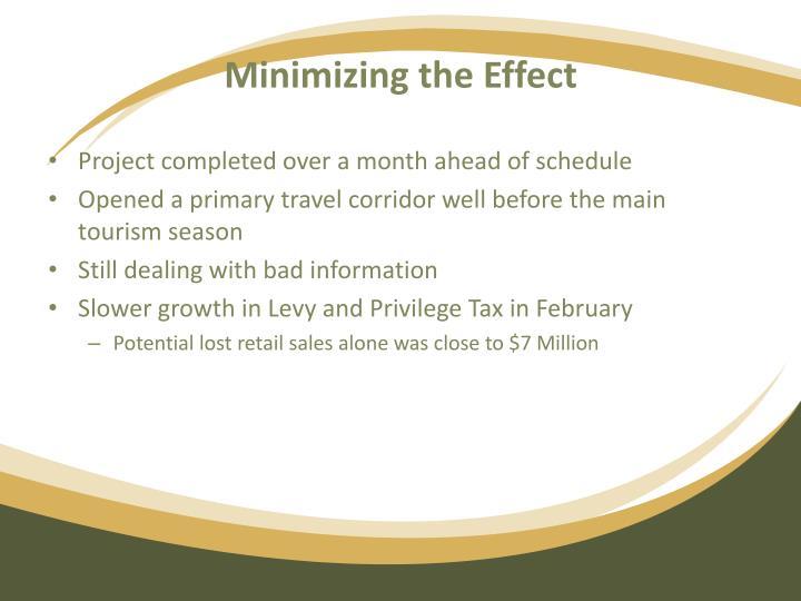 Minimizing the Effect