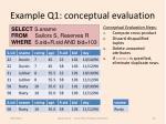 example q1 conceptual evaluation