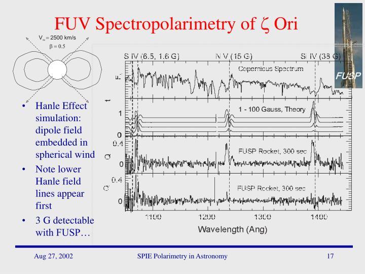 FUV Spectropolarimetry of