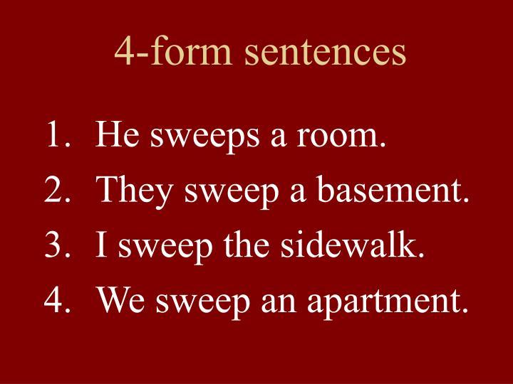 4-form sentences