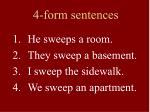 4 form sentences