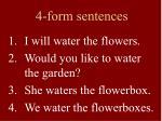 4 form sentences3