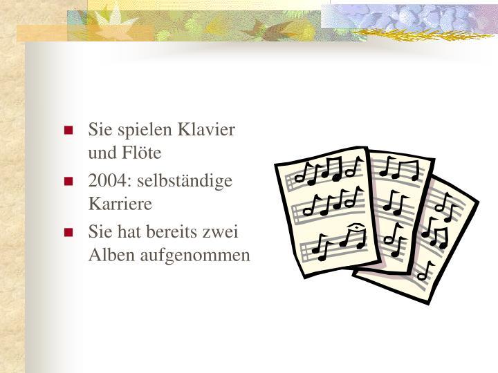 Sie spielen Klavier und Fl