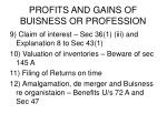 profits and gains of buisness or profession3