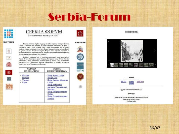 Serbia-Forum