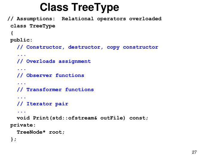 Class TreeType