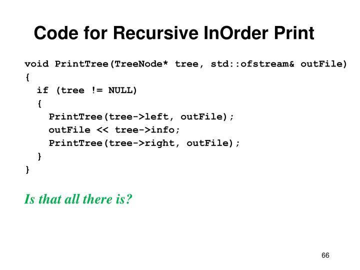 Code for Recursive