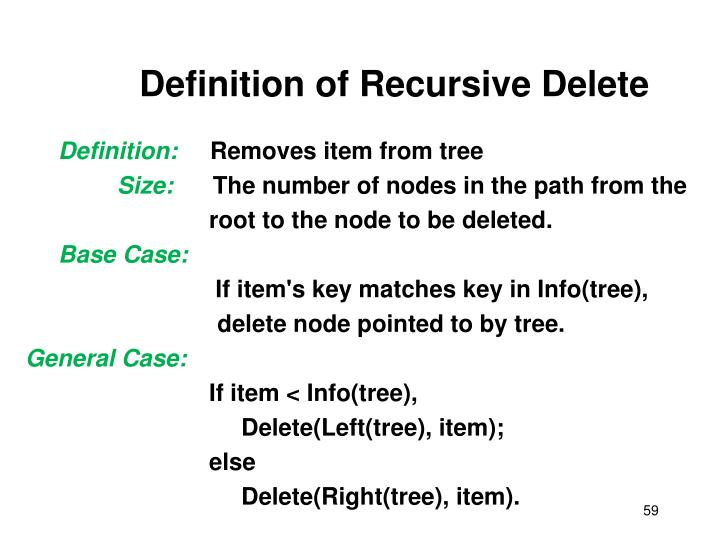 Definition of Recursive Delete