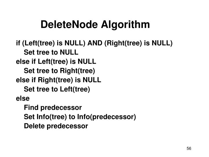 DeleteNode Algorithm