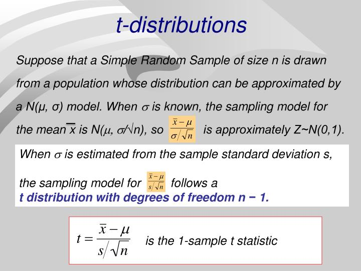 t-distributions