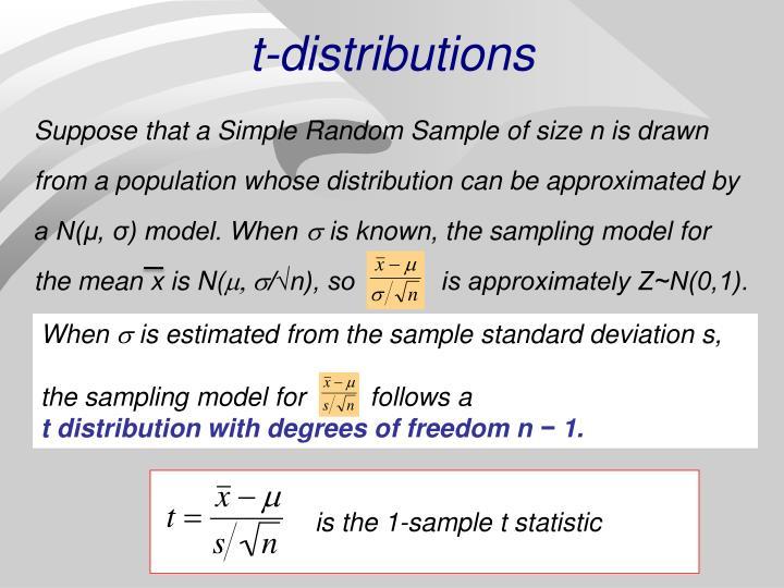 t-distributions