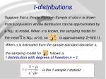 t distributions