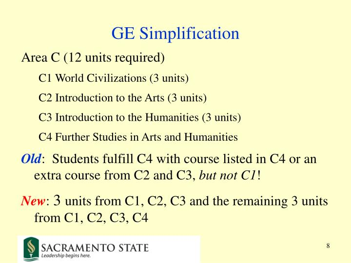 GE Simplification