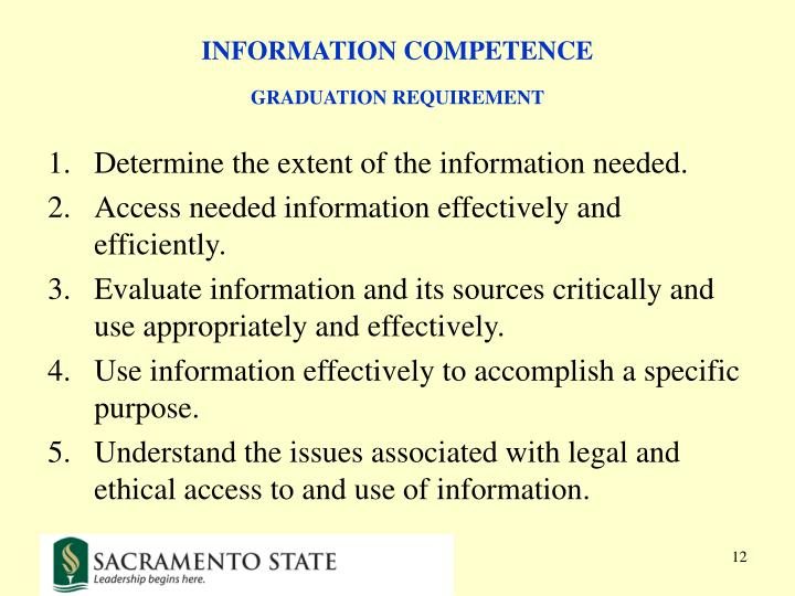 INFORMATION COMPETENCE