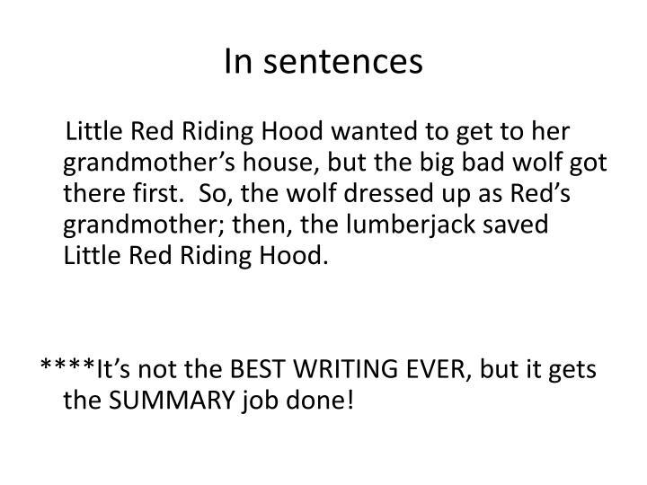 In sentences