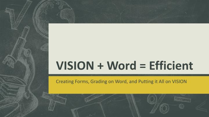 vision word efficient