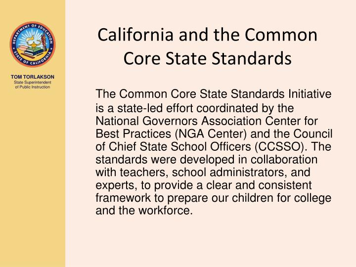 California and the common core state standards