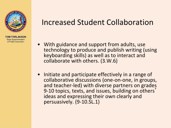 Increased Student Collaboration