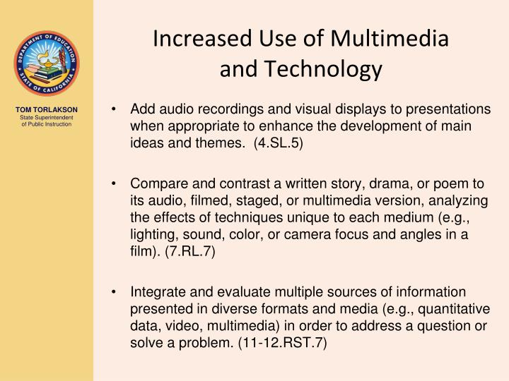 Increased Use of Multimedia