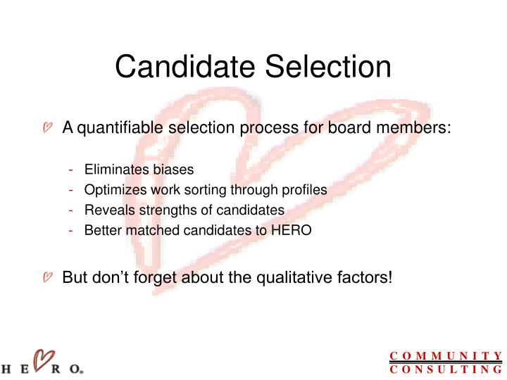 Candidate Selection