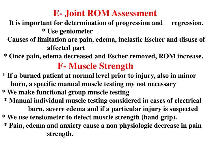 E- Joint ROM Assessment
