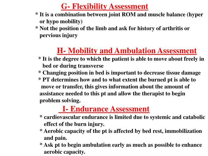 G- Flexibility Assessment