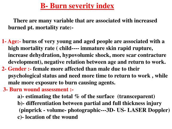 B- Burn severity index
