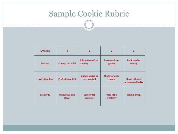Sample Cookie Rubric