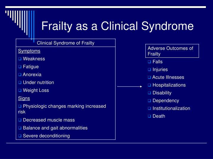 PPT - The Frail Elderly PowerPoint Presentation - ID:2702293