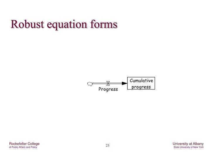 Robust equation forms