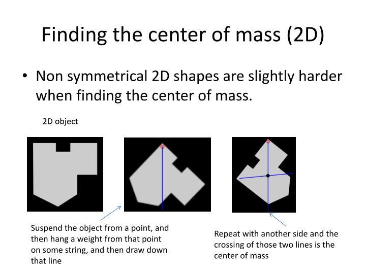 Finding the center of mass (2D)