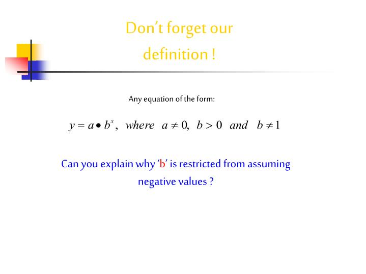 Any equation of the form: