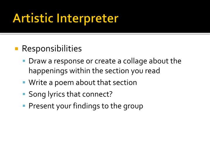Artistic Interpreter