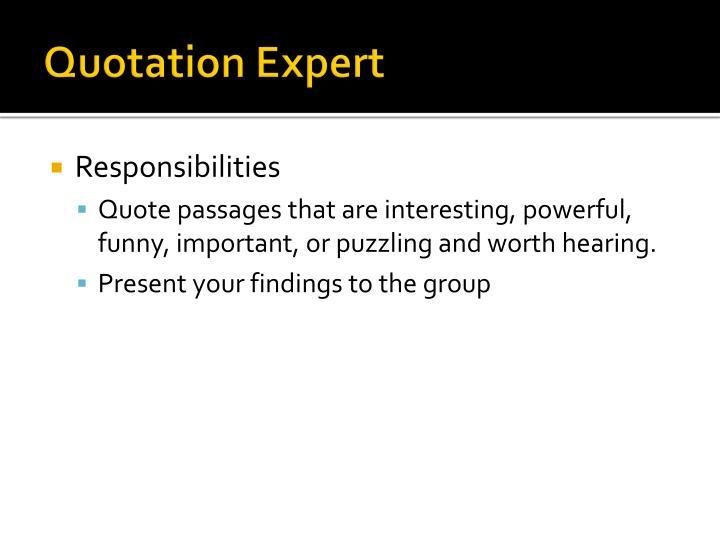 Quotation Expert