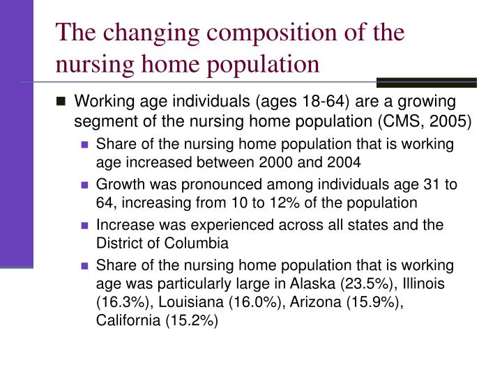 The changing composition of the nursing home population
