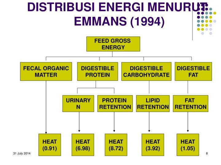 DISTRIBUSI ENERGI MENURUT EMMANS (1994)