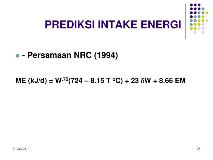 PREDIKSI INTAKE ENERGI