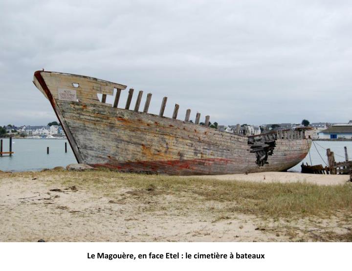 Le Magouère, en face Etel : le cimetière à bateaux