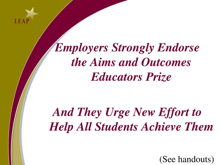 Employers Strongly Endorse