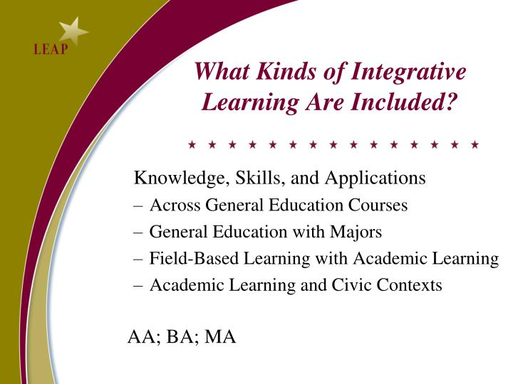 What Kinds of Integrative Learning Are Included?