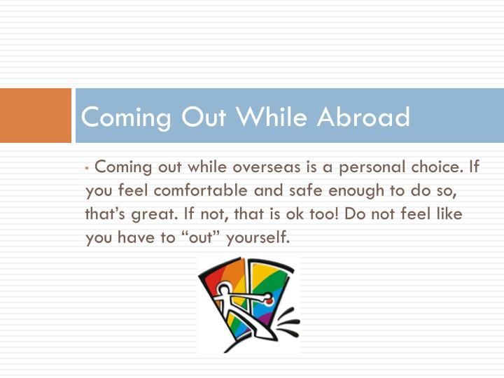 Coming Out While Abroad