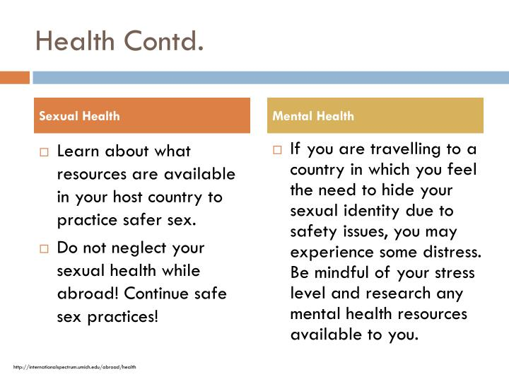 Health Contd.