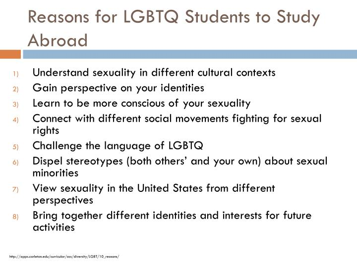 Reasons for LGBTQ Students to Study Abroad