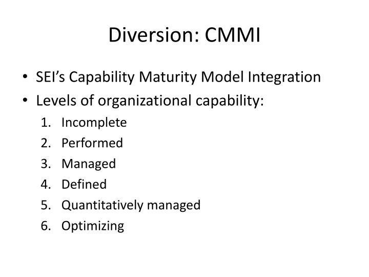 Diversion: CMMI