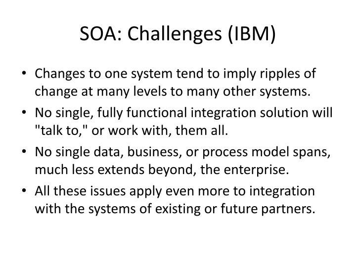 SOA: Challenges (IBM)