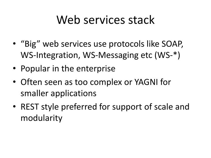 Web services stack