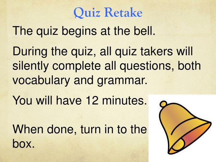 Quiz Retake